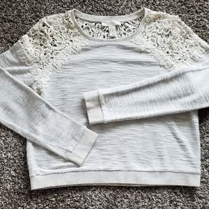 🌹 Forever 21 (M) Lace Sweater - Grayish🌹